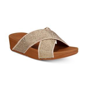 フィットフロップ FitFlop レディース サンダル・ミュール シューズ・靴 Ritzy Slide Sandals Gold|fermart-shoes