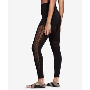 アディダス adidas レディース スパッツ・レギンス インナー・下着 High-Rise Seamless Warp-knit Ankle Leggings Black|fermart-shoes
