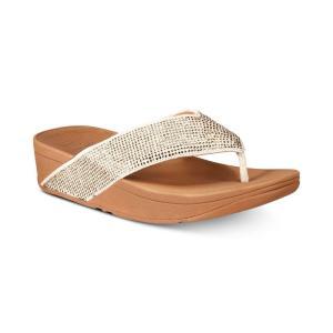 フィットフロップ FitFlop レディース サンダル・ミュール シューズ・靴 Ritzy Toe-Thong Sandals Gold|fermart-shoes