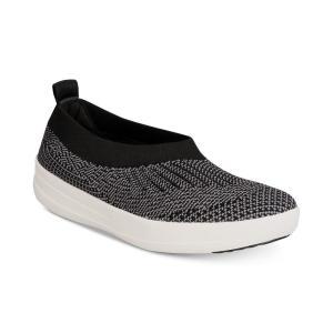 フィットフロップ FitFlop レディース スリッポン・フラット シューズ・靴 Uberknit Ballerina Flats Black/ Charcoal|fermart-shoes