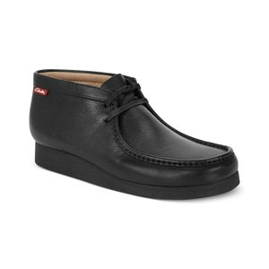 クラークス Clarks メンズ ブーツ シューズ・靴 Stinson Hi Top Wallabee Boots Black oily|fermart-shoes