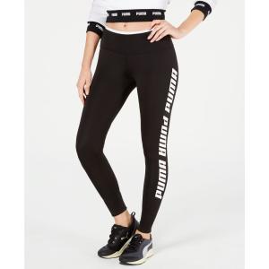 プーマ Puma レディース スパッツ・レギンス インナー・下着 Modern Sports Fold-Up Logo Leggings Puma Black/White fermart-shoes