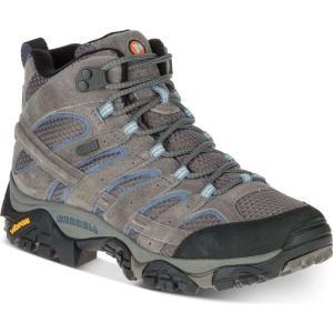 メレル Merrell レディース スニーカー シューズ・靴 Moab 2 Mid Waterproof Sneakers Granite|fermart-shoes