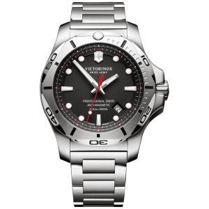 ビクトリノックス Victorinox Swiss Army メンズ 腕時計 I.N.O.X. Professional Diver Stainless Steel Bracelet Watch 45mm Black|fermart-shoes