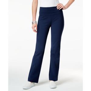 スタイル&コー Style & Co レディース ボトムス・パンツ ヨガ・ピラティス Petite Tummy-Control Bootcut Yoga Pants Industrial Blue|fermart-shoes