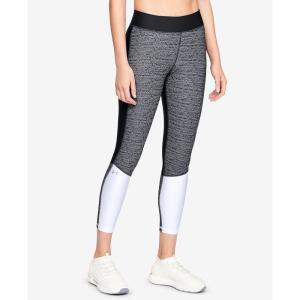 アンダーアーマー Under Armour レディース スパッツ・レギンス インナー・下着 HeatGear Colorblocked Ankle Leggings Black/White|fermart-shoes