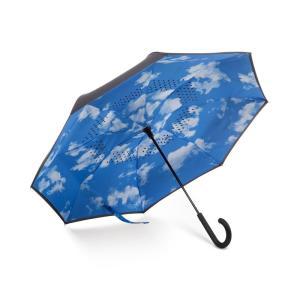 トーツ Totes レディース 傘 InBrella Reverse Close Umbrella Clouds|fermart-shoes