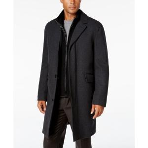 コールハーン Cole Haan メンズ コート アウター Twill Bibby Overcoat Charcoal|fermart-shoes
