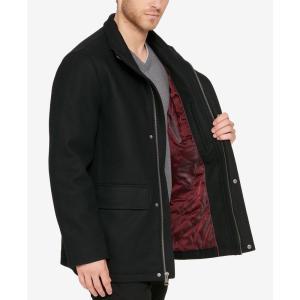 コールハーン Cole Haan メンズ コート アウター Hidden-Placket Wool Coat Black|fermart-shoes