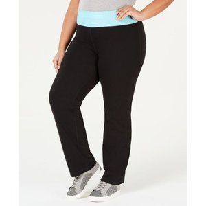 イデオロギー Ideology レディース ボトムス・パンツ ヨガ・ピラティス Plus Size Rapidry Open-Leg Yoga Pants's Crystal Mist|fermart-shoes