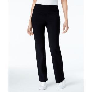 スタイル&コー Style & Co レディース ボトムス・パンツ ヨガ・ピラティス Petite Tummy-Control Bootcut Yoga Pants Deep Black|fermart-shoes