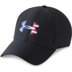 アンダーアーマー Under Armour メンズ キャップ 帽子 Logo Hat Black/Red|fermart-shoes