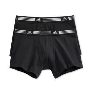アディダス adidas メンズ ボクサーパンツ インナー・下着 Athletic Stretch 2 Pack Trunk Black / Black fermart-shoes