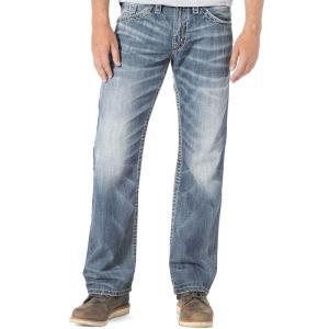シルバー ジーンズ Silver Jeans Co. メンズ ジーンズ・デニム ボトムス・パンツ Zac Relaxed Fit Straight Jeans Light Wash|fermart-shoes