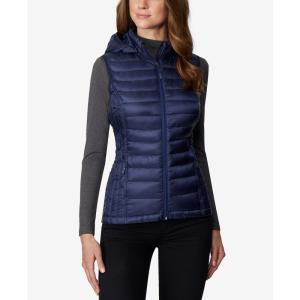 サーティーツーディグリー 32 Degrees レディース ベスト・ジレ トップス Plus Size Hooded Packable Down Vest Dress Blue|fermart-shoes