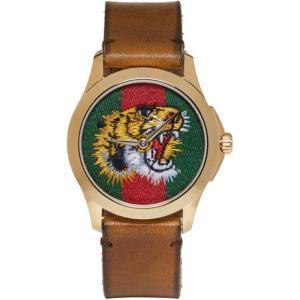 グッチ レディース 腕時計 Gold Medium G-Timeless Tiger Watch|fermart-shoes