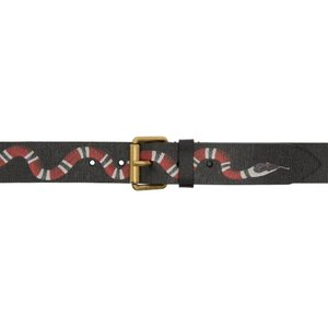 グッチ メンズ ベルト Black Snake Belt|fermart-shoes