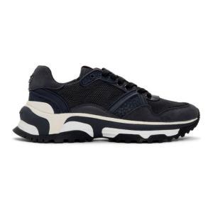 コーチ Coach 1941 メンズ スニーカー シューズ・靴 Navy Monochrome C143 Runner Sneakers|fermart-shoes
