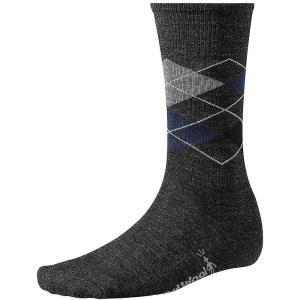 スマートウール メンズ インナー ソックス Smartwool Diamond Jim Sock Charcoal Heather / Deep Navy Heather fermart-shoes