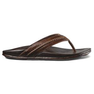 オルカイ メンズ シューズ・靴 サンダル OluKai Mea Ola Sandal Dark Java / Dark Java fermart-shoes