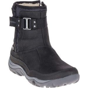 メレル Merrell レディース ブーツ シューズ・靴 Murren Strap Waterproof Boot Black|fermart-shoes
