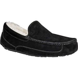 アグ Ugg メンズ スリッパ シューズ・靴 Ascot Suede Slipper Black|fermart-shoes