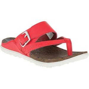 メレル Merrell レディース サンダル・ミュール シューズ・靴 Around Town Thong Buckle Print Sandal Firey Red|fermart-shoes