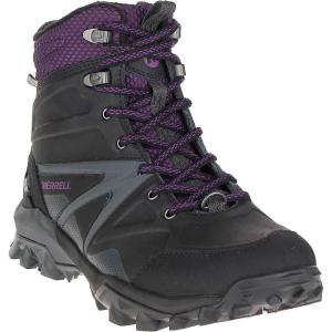 メレル Merrell レディース ブーツ シューズ・靴 Capra Glacial Ice+ Mid Waterproof Boot Black|fermart-shoes