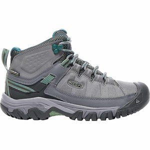 キーン レディース シューズ・靴 陸上 Keen Targhee Exp Mid Waterproof Shoe Steel Grey / Basil|fermart-shoes
