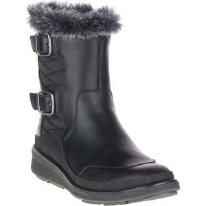 メレル Merrell レディース ブーツ シューズ・靴 Tremblant Ezra Zip Waterproof Ice+ Boot Black|fermart-shoes