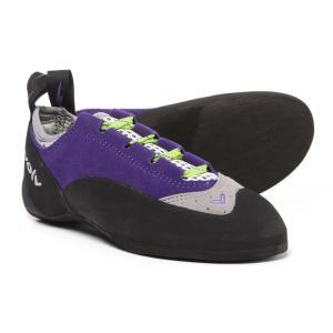 イボルブ レディース シューズ・靴 クライミング Nikita Lace Climbing Shoes - Suede Purple/Grey|fermart-shoes