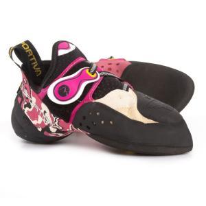 ラスポルティバ La Sportiva レディース シューズ・靴 クライミング Made in Italy Solution Climbing Shoes White/Pink|fermart-shoes