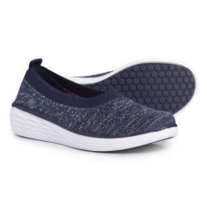 ライカ ryka レディース スリッポン・フラット シューズ・靴 Nell Ballet Sneakers Navy/White|fermart-shoes