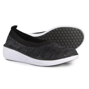 ライカ ryka レディース スリッポン・フラット シューズ・靴 Nell Ballet Sneakers Black/White|fermart-shoes