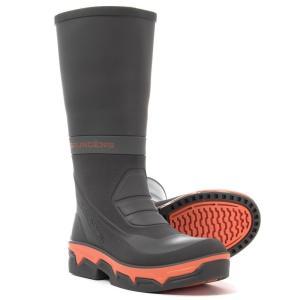 グルンデン Grundens メンズ シューズ・靴 釣り・フィッシング Deck-Boss Fishing Boots - Waterproof Steel Grey/Orange|fermart-shoes