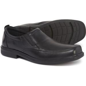 ハッシュパピー Hush Puppies メンズ ローファー シューズ・靴 Platon Hopper Slip-On Loafers - Leather Black|fermart-shoes
