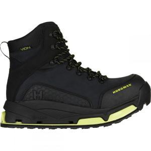 ホッジマン メンズ シューズ・靴 釣り・フィッシング Vion H - Lock Wade Boot Black Nubuck Leather-Wade Tech/Felt|fermart-shoes