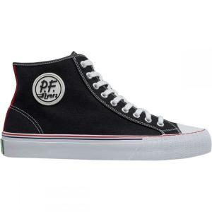 ピーエフフライヤー メンズ スニーカー シューズ・靴 Center Hi Shoe Black/White|fermart-shoes