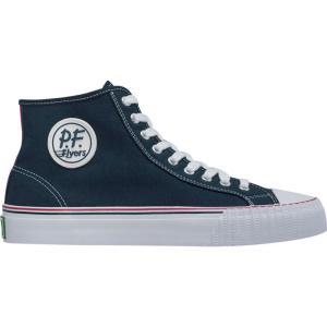 ピーエフフライヤー メンズ スニーカー シューズ・靴 Center Hi Shoe Navy|fermart-shoes