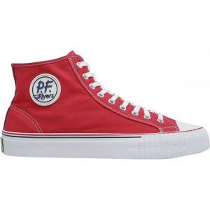 ピーエフフライヤー メンズ スニーカー シューズ・靴 Center Hi Shoes Red|fermart-shoes