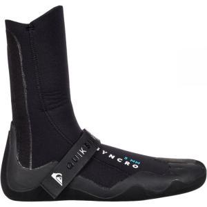 クイックシルバー メンズ シューズ・靴 サーフィン 5.0 Syncro Round Toe Booties Black|fermart-shoes