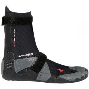 リップカール メンズ シューズ・靴 サーフィン Flash Bomb 5mm Round Toe Booties Black|fermart-shoes