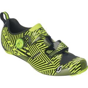 スコット Scott メンズ シューズ・靴 トライアスロン Tri Carbon Cycling Shoes Gloss Black/Sulphur Yellow|fermart-shoes