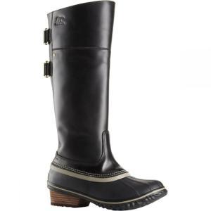 ソレル Sorel レディース ブーツ シューズ・靴 Slimpack Riding Tall II Boot Black/Kettle|fermart-shoes