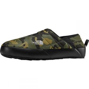 ザ ノースフェイス The North Face メンズ ブーツ シューズ・靴 ThermoBall Traction Mule V Bootie Burnt Olive Green Woodland Camo Print/Tnf Black|fermart-shoes