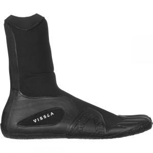 ヴィスラ Vissla メンズ シューズ・靴 サーフィン 7 Seas 3mm Split Toe Booties Black|fermart-shoes