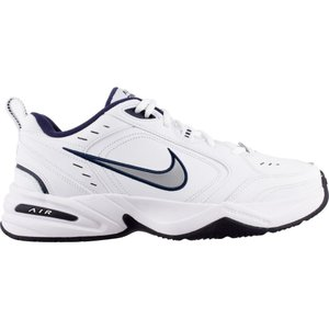 ナイキ メンズ スニーカー シューズ・靴 Nike Air Monarch IV Training Shoe White/Mtllc Slvr/Mid Navy|fermart-shoes