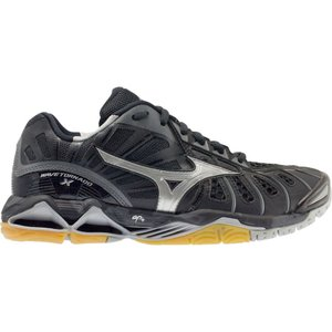 ミズノ レディース シューズ・靴 バレーボール Mizuno Wave Tornado X Volleyball Shoes Black/Silver|fermart-shoes