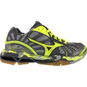 ミズノ レディース シューズ・靴 バレーボール Mizuno Wave Tornado X Volleyball Shoes Grey/Yellow|fermart-shoes