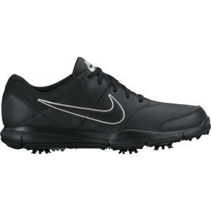 ナイキ メンズ シューズ・靴 ゴルフ Durasport 4 Golf Shoes Black/Metallic Silver|fermart-shoes